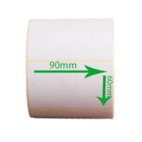 لیبل کاغذی 90*60 رول 1000 عددی